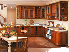 1002Kitchen from solid alder wood Cherries-10 type-12