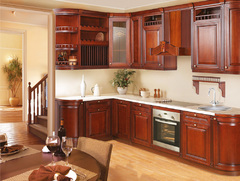 1003Kitchen from solid alder wood Cherries-12 type-14